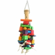Happy Beaks Toy - Wooden Blocks & Bamboo (Large)