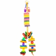 Happy Beaks Toy - Wooden Spoon with Bagels, Blocks & Beads