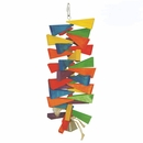 Happy Beaks Toy - Wooden Wedges with Bell (Large)