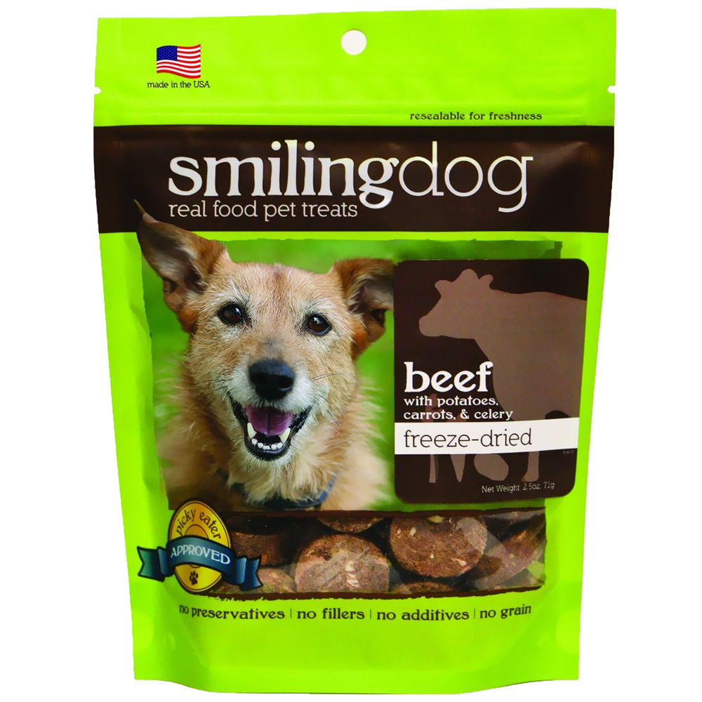 Image of Herbsmith Smiling Dog Freeze-Dried Treats - Beef with Potatoes, Carrots & Celery