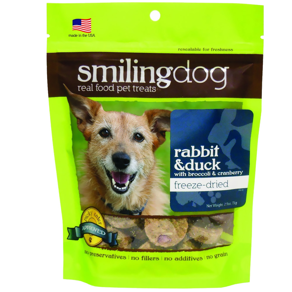 Herbsmith Smiling Dog Freeze-Dried Treats - Rabbit & Duck with Broccoli & Cranberries im test
