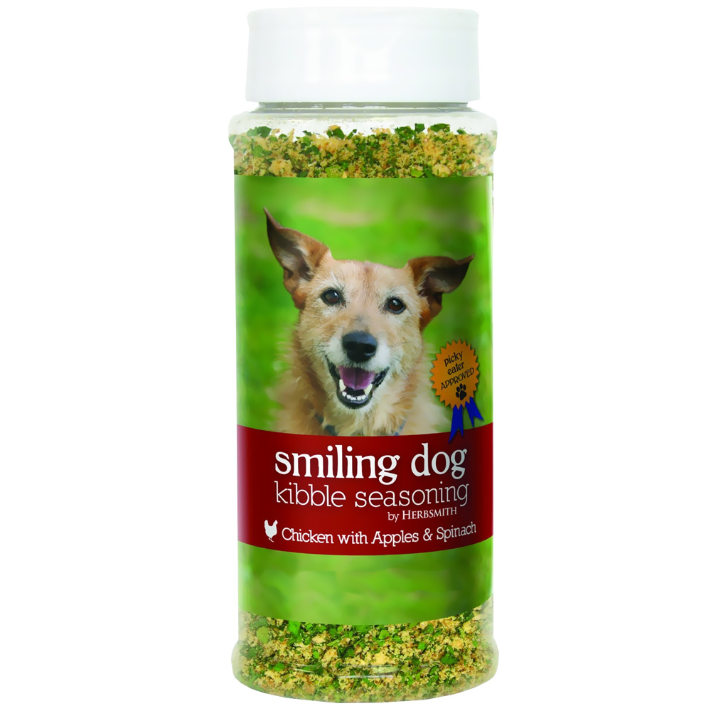 Image of Herbsmith Smiling Dog Kibble Seasoning - Chicken with Apples & Spinach - Large