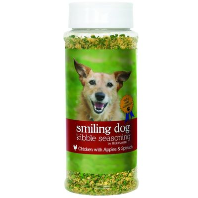 Herbsmith Smiling Dog Kibble Seasoning - Chicken with Apples & Spinach - Large