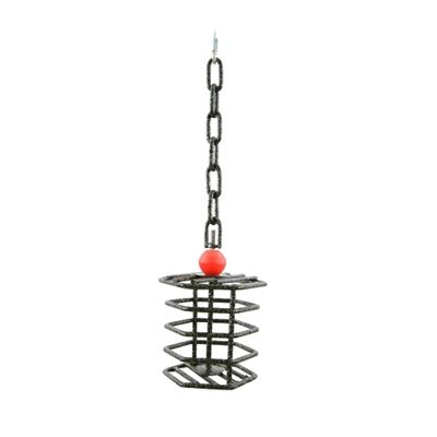 "Hex Bird Toy Feeder - Platinum (14""x5"")"