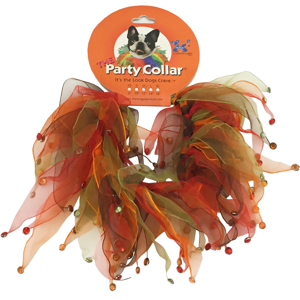 """Image of Holiday Party Collar- Autumn Rhinestones - Medium - 12"""" - For Dogs - from EntirelyPets"""