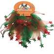 """Holiday Party Collar - Xmas Red & Green Stars - Large (14"""")"""