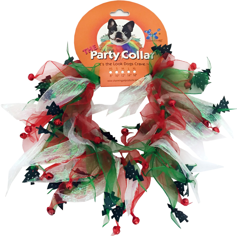"""""""Holiday Party Collar - Xmas Tree - Small (10"""""""")"""" im test"""