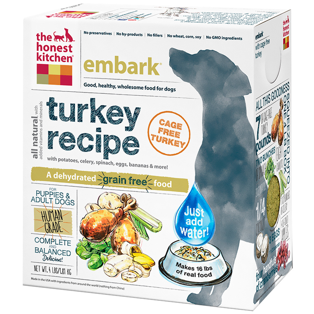 Honest Kitchen Embark: Honest Kitchen Embark Dehydrated Grain-Free Turkey Dog
