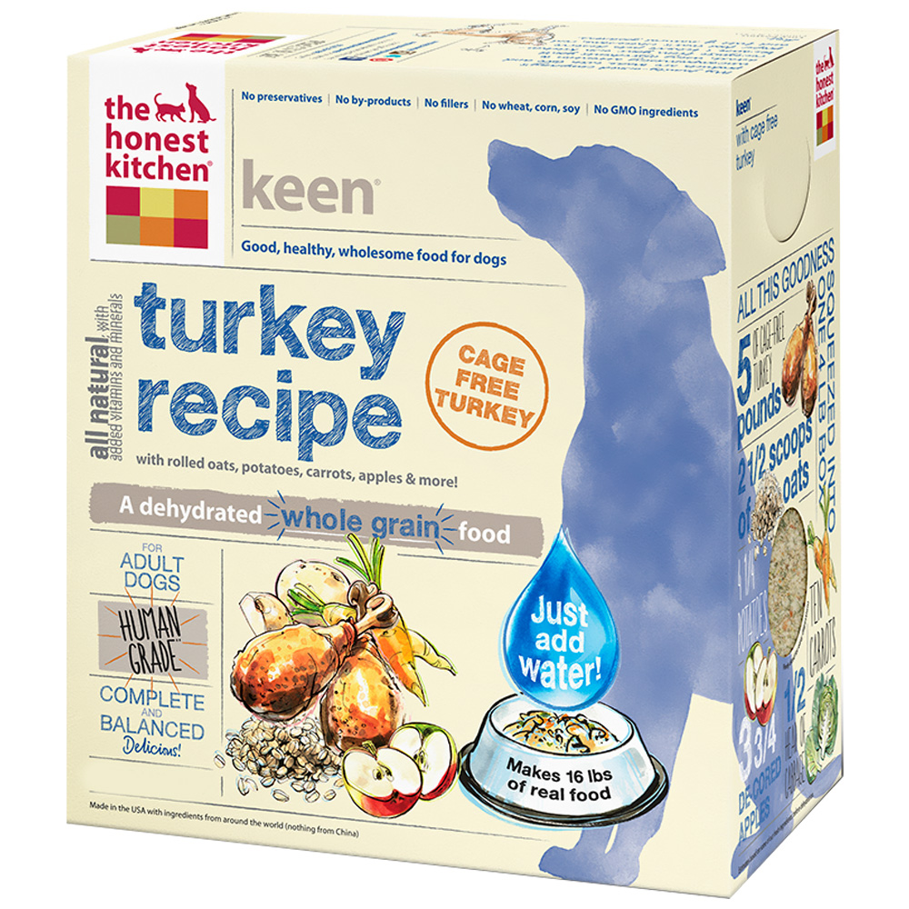 Image of Honest Kitchen Keen Dehydrated Turkey Dog Food (10 lbs)