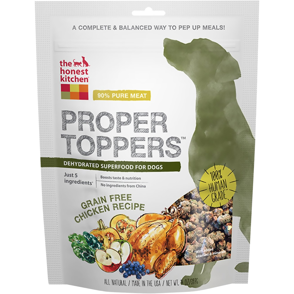 Image of Honest Kitchen Proper Toppers Superfood for Dogs - Chicken (14 oz)