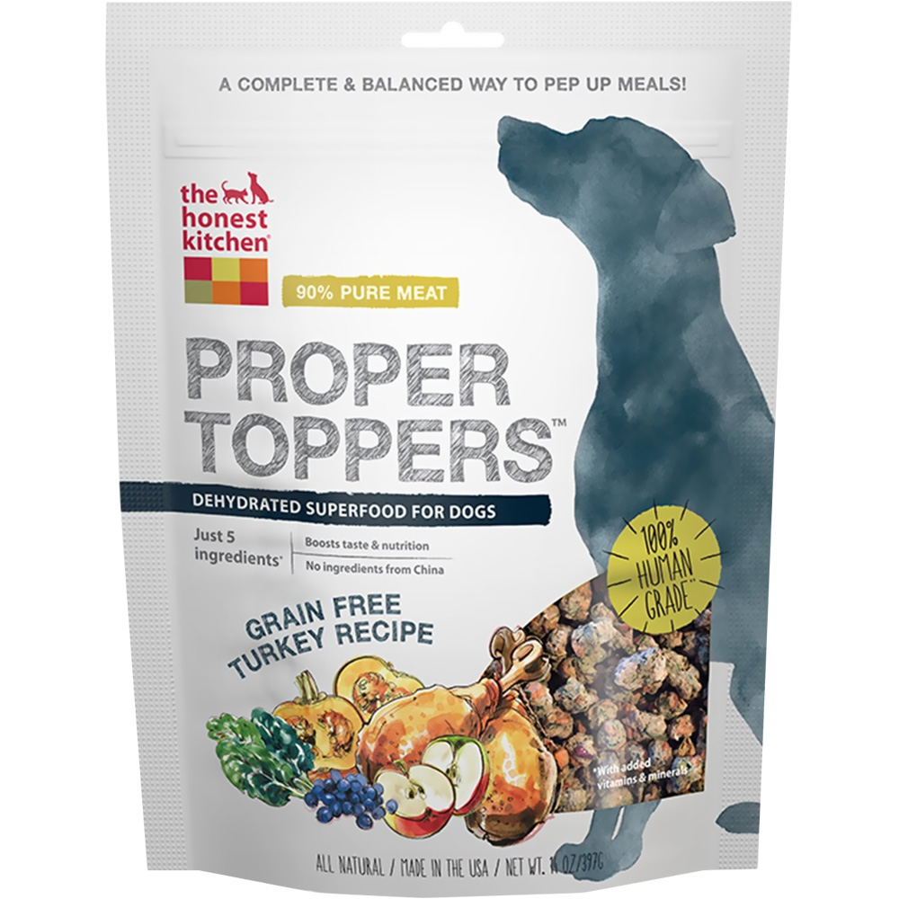 Image of Honest Kitchen Proper Toppers Superfood for Dogs - Turkey (14 oz)