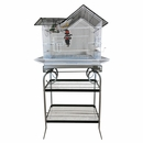 """House Top Bird Cage with Stand - 27""""x18""""x57"""""""