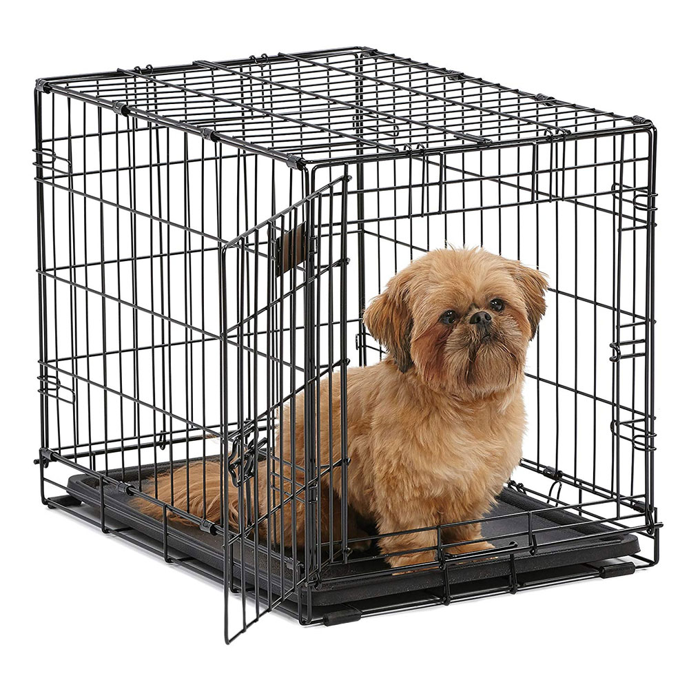 iCrate Folding Dog Crate - Black - 24x18x19 - from EntirelyPets