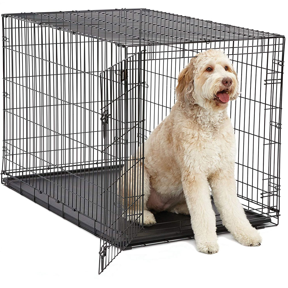 iCrate Folding Dog Crate - Black - 48x30x33 - from EntirelyPets