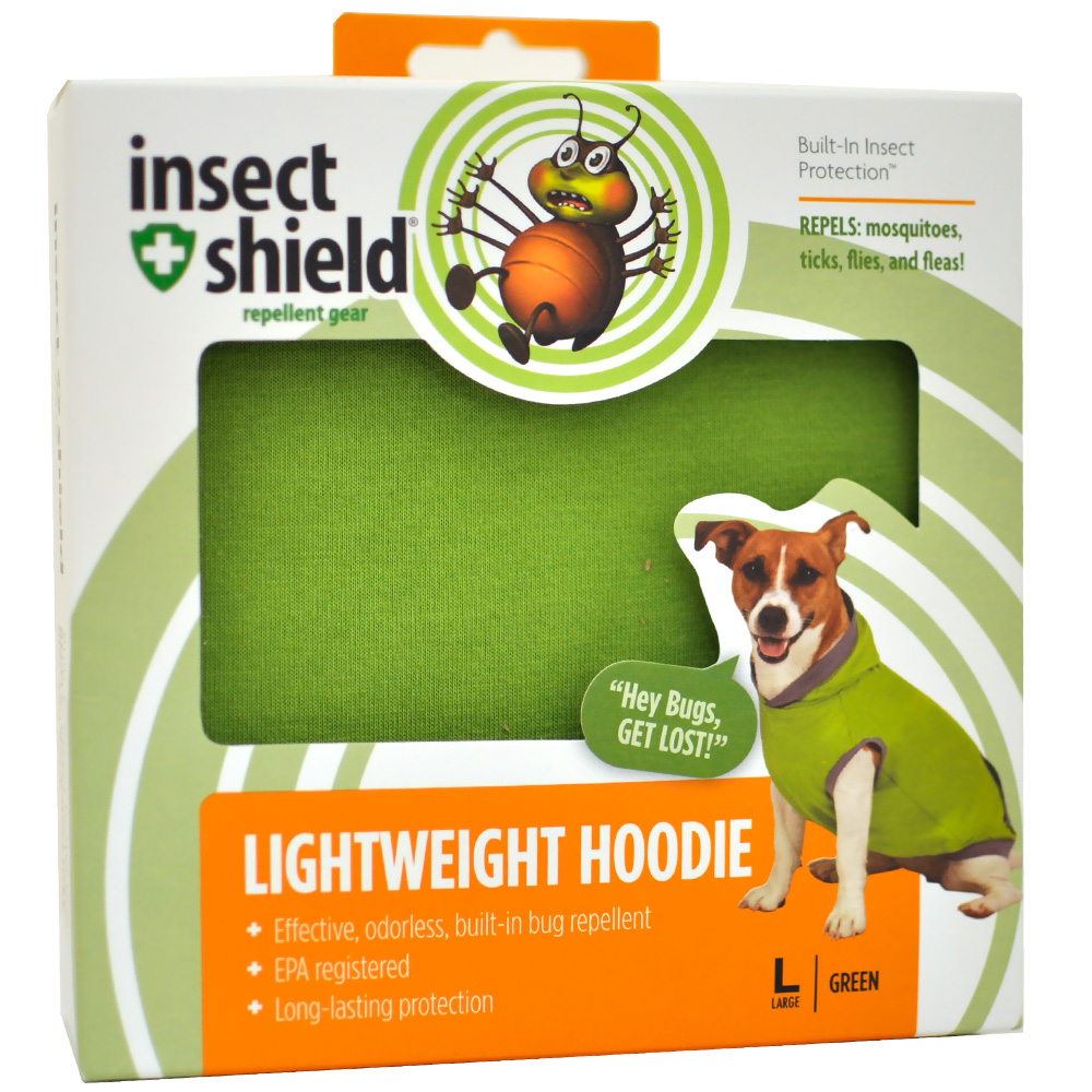 Insect Shield Lightweight Hoodie Large - Green im test