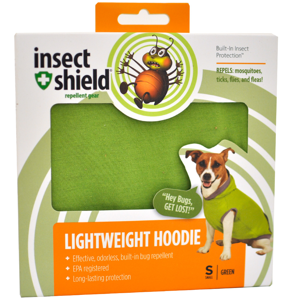 Insect Shield Lightweight Hoodie Small - Green im test