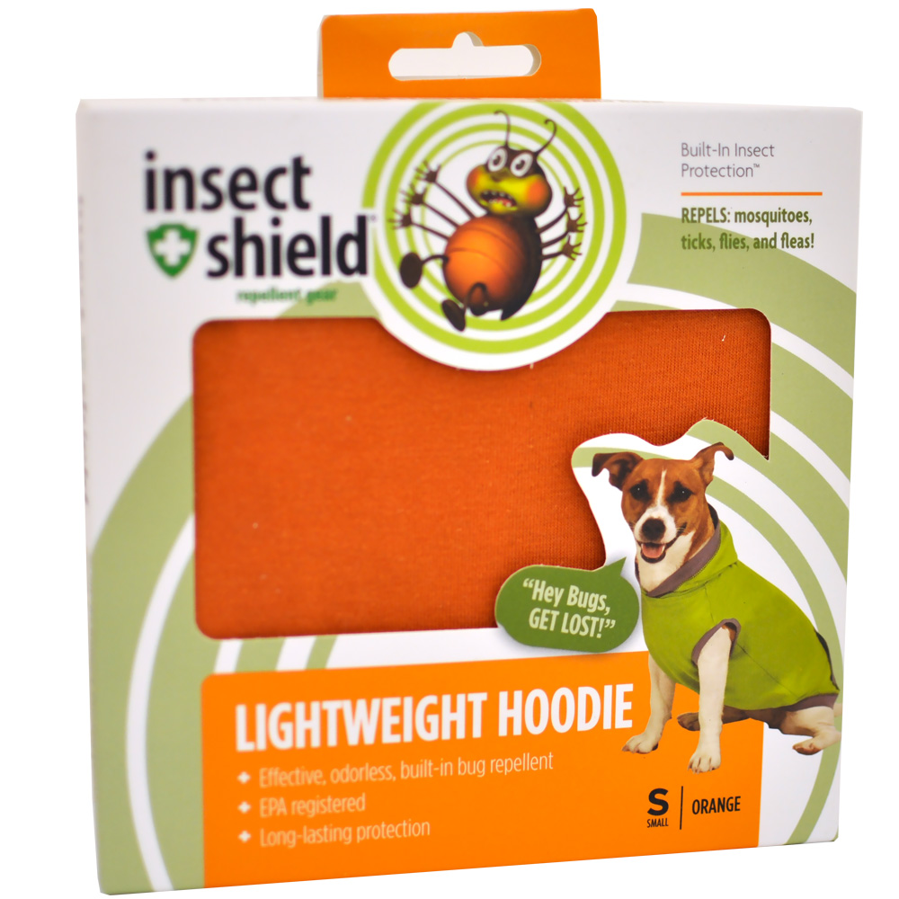Insect Shield Lightweight Hoodie Small - Orange im test