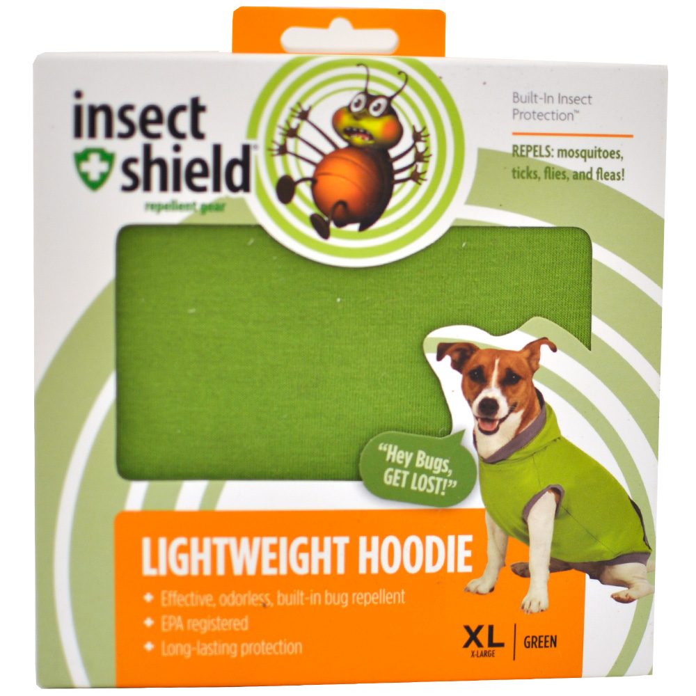 Insect Shield Lightweight Hoodie XLarge - Green im test