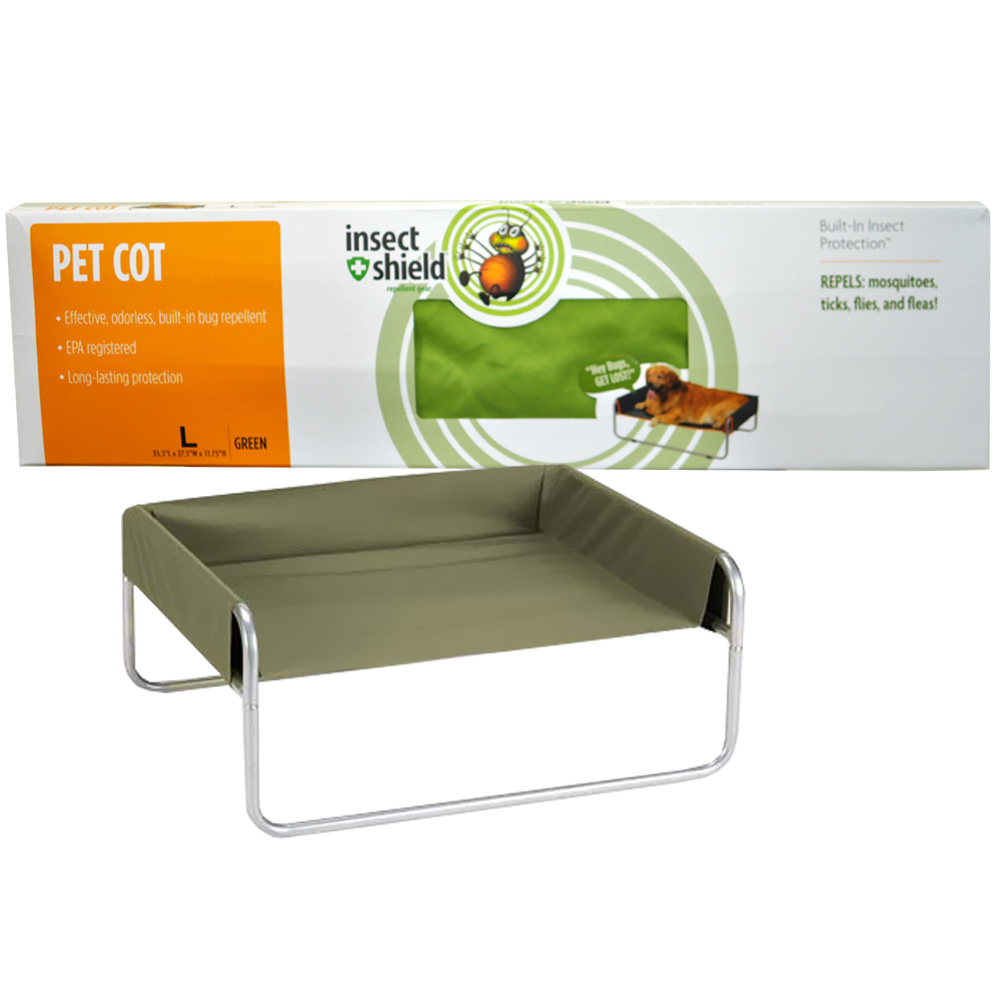 Insect Shield Pet Cot Large - Green im test