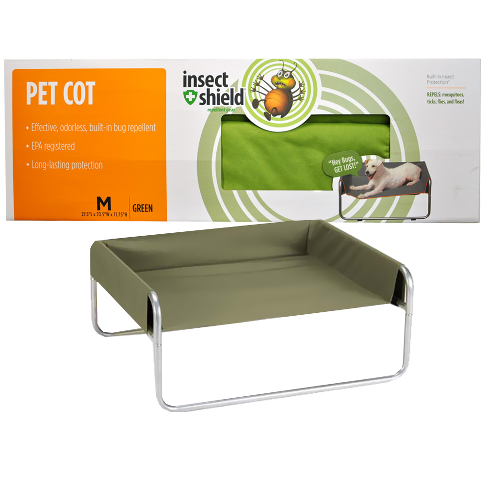 Insect Shield Pet Cot Medium - Green im test