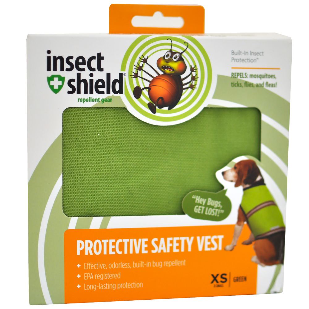 Insect Shield Protective Safety Vest XSmall - Green im test