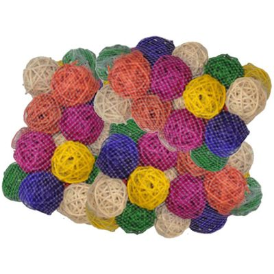 """Java Wood Toy - Colored Vine Balls 1.5"""" (100 Pack) - Small"""