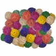 "Java Wood Toy - Colored Vine Balls 2"" (100 Pack) - Medium"