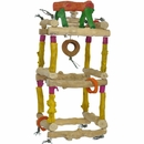 Java Wood Toy - Hanging Double Tower (Large)