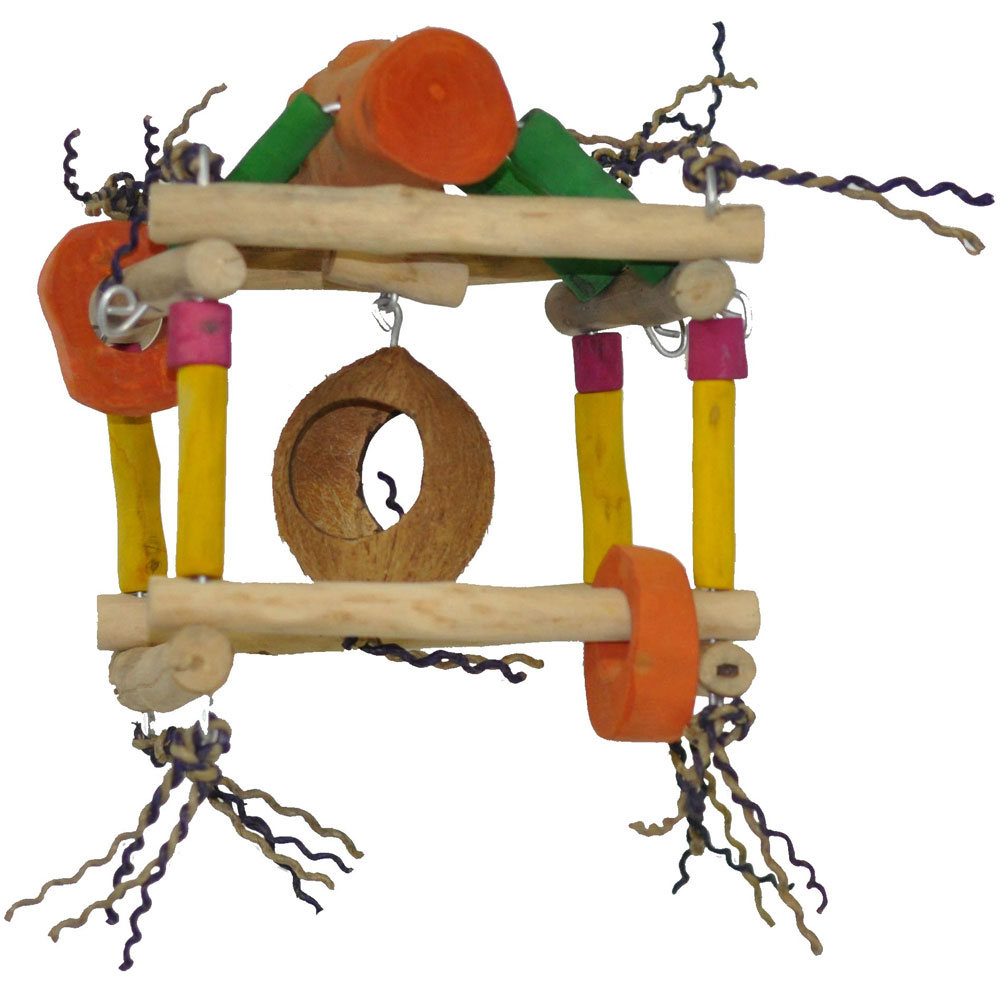 JAVA-WOOD-TOY-HANGING-SINGLE-TOWER-SMALL
