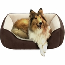 "JLA Pets Buster Reversible Rectangular Cuddler - Chocolate/Brown (21x25"")"