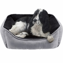 "JLA Pets Buster Reversible Rectangular Cuddler - Grey (24x34"")"