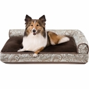 "JLA Pets Duke Right Angle Bolster Lounger - Brown (27x40"")"