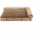 "JLA Pets Elude Strip Right Angle Bolster Lounger - Brown (27x40"")"