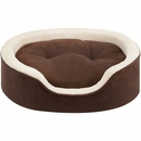 "JLA Pets Milo Oval Cuddler with Cushion - Tan (14x18"")"