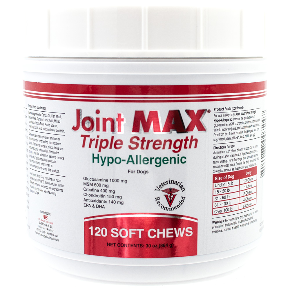 Image of Joint MAX Triple Strength Hypoallergenic Soft Chews (120 Chews)