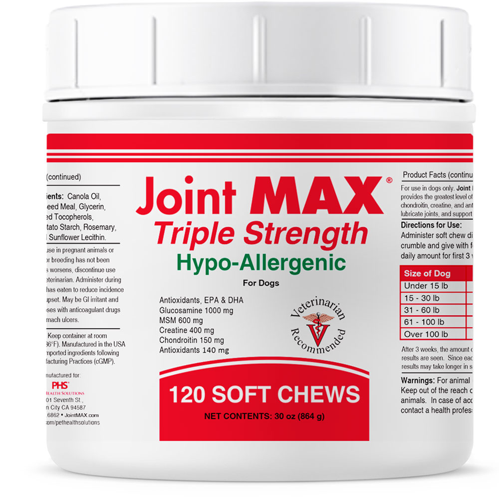 JOINT-MAX-TRIPLE-STRENGTH-HYPO-ALLERGENIC-120-SOFT-CHEWS