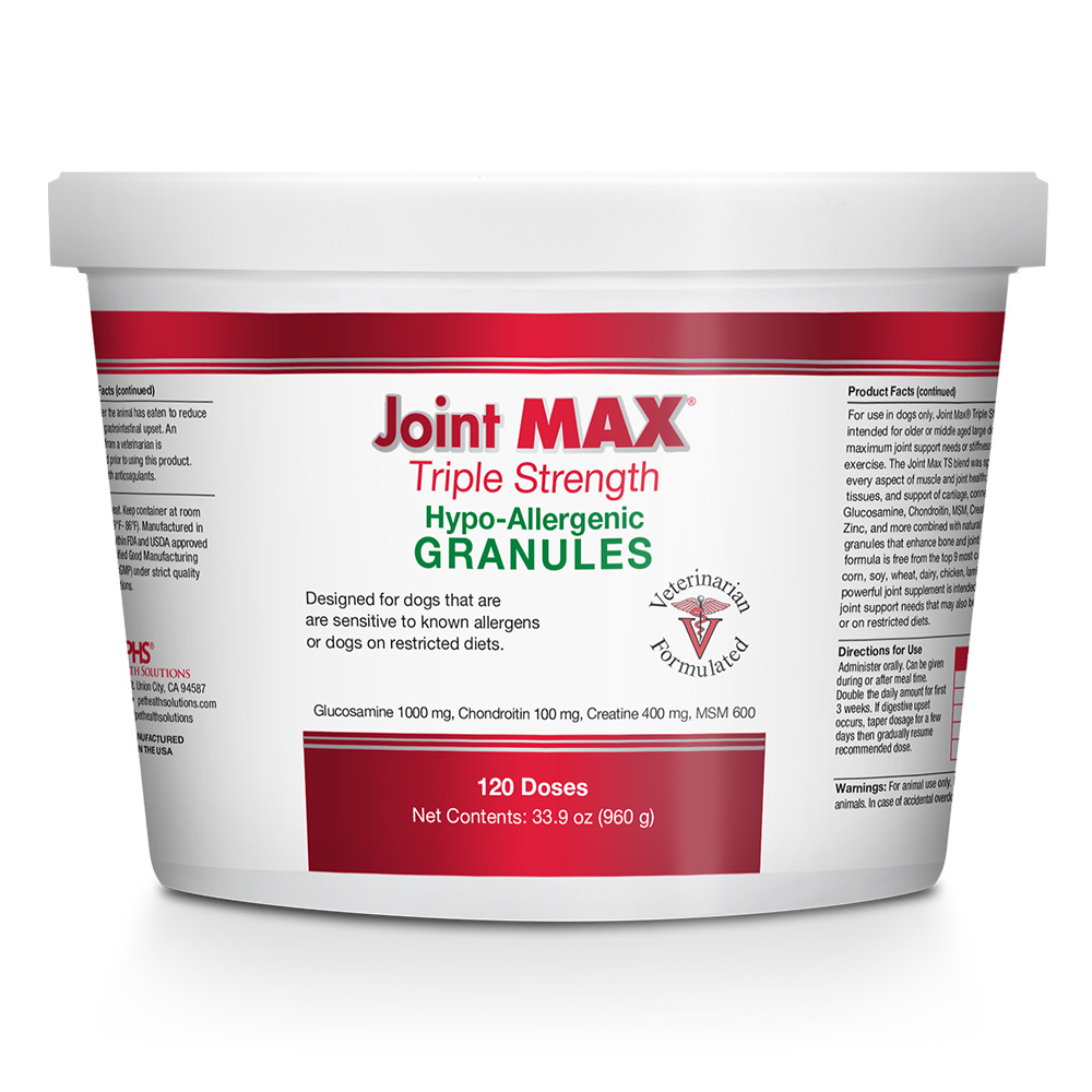 Joint MAX Triple Strength Hypoallergenic Granules (120 Doses) im test