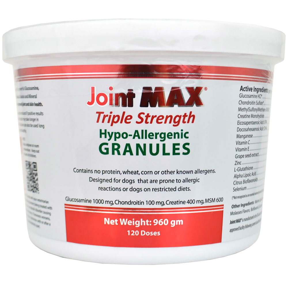 Image of Joint MAX Triple Strength Hypoallergenic Granules (120 Doses)