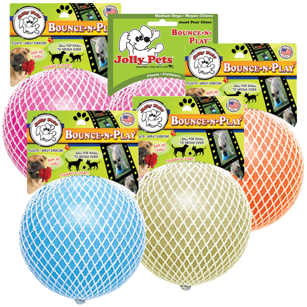 """""""Jolly Pets Jolly Bounce-N-Play Dog Toy 6"""""""" - Assorted"""" im test"""