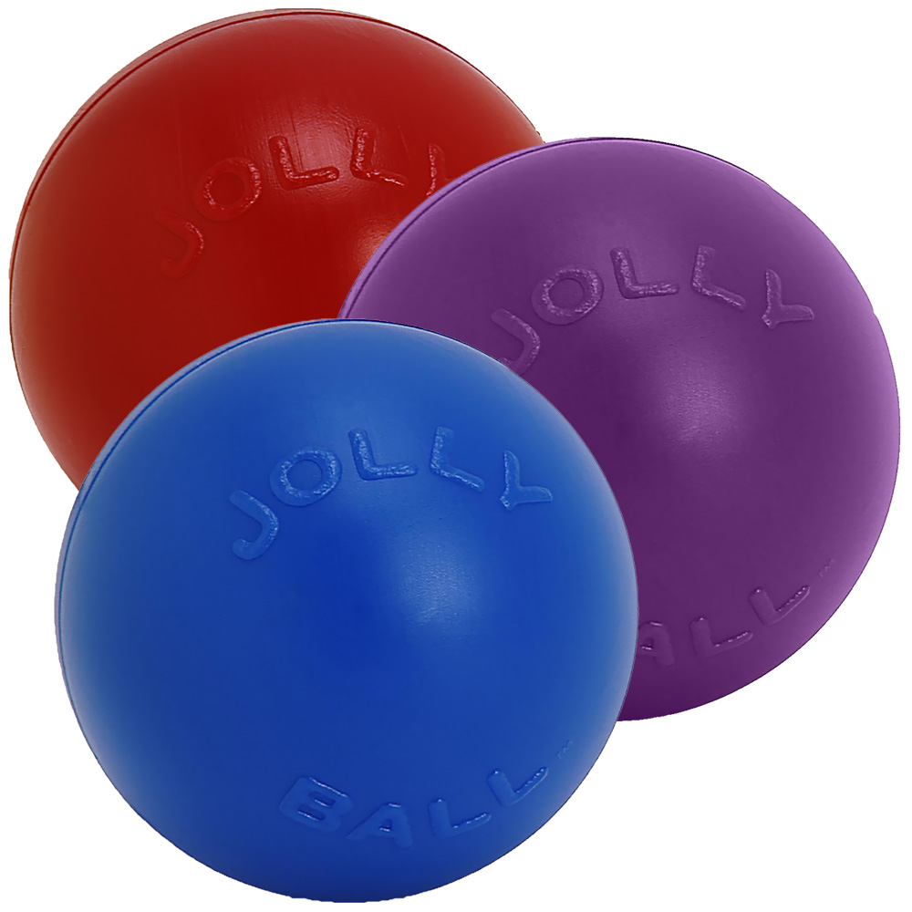 Jolly Pets Push-N-Play Jolly Ball (4.5 in) - Assorted im test