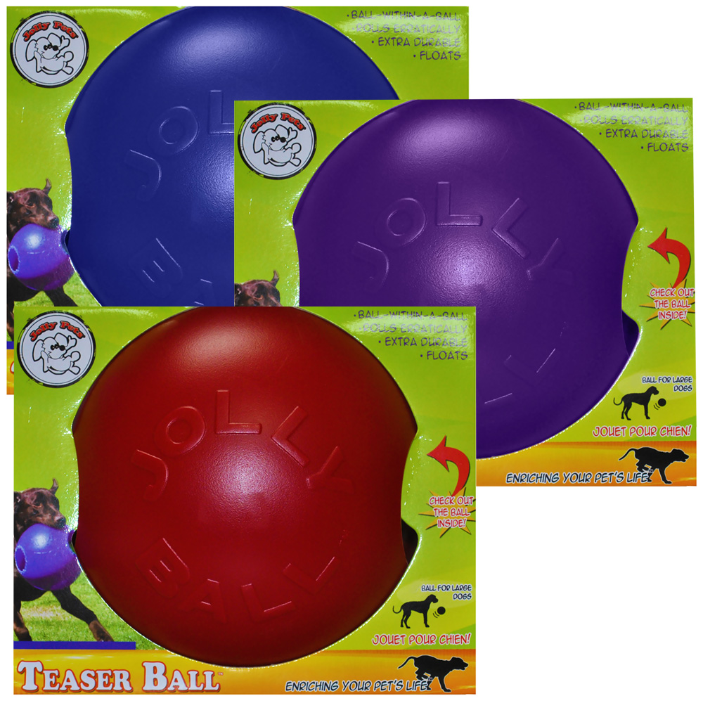 Jolly Pets Teaser Ball with Inside Ball (8 in) - Assorted im test