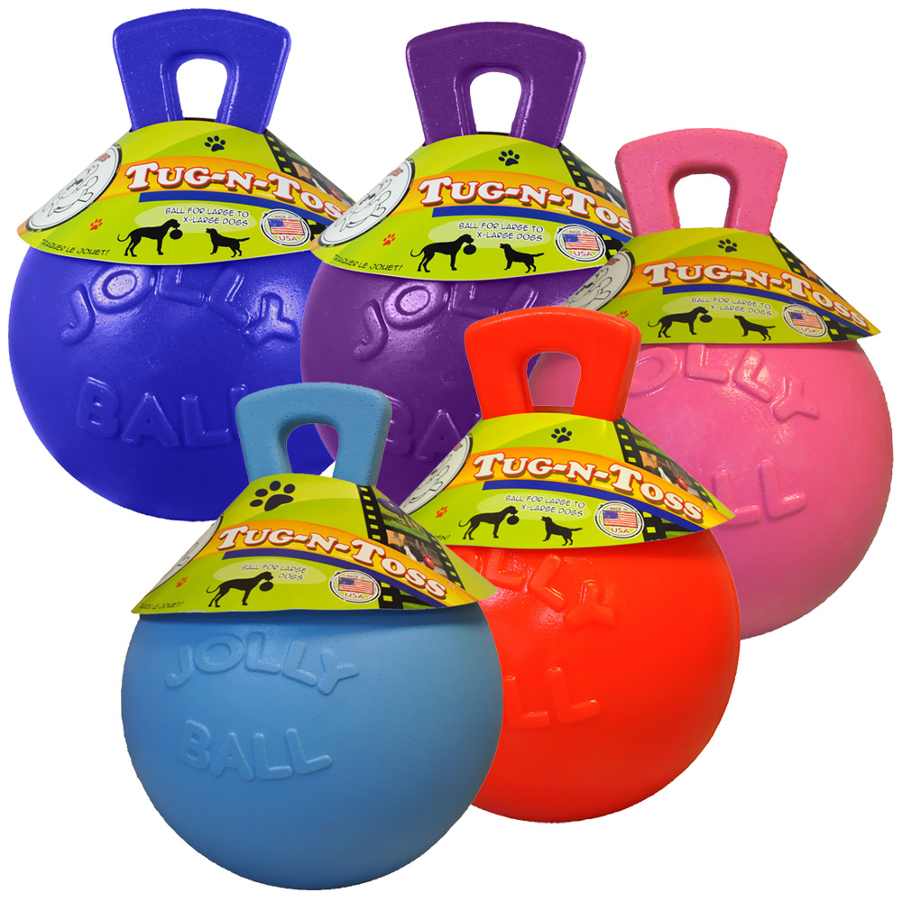 Jolly Pets Tug-n-Toss Jolly Ball (8 in.) - Assorted im test