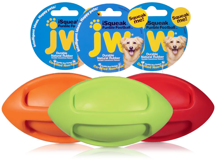 JW Pet iSqueak Funble Football- Large (Assorted) im test