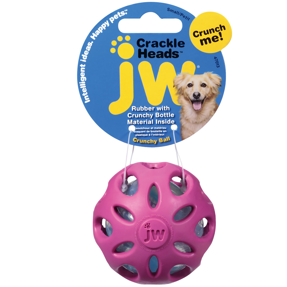 JW Pet Crackle Heads Crackle Ball Dog Toy - Small (Assorted) im test