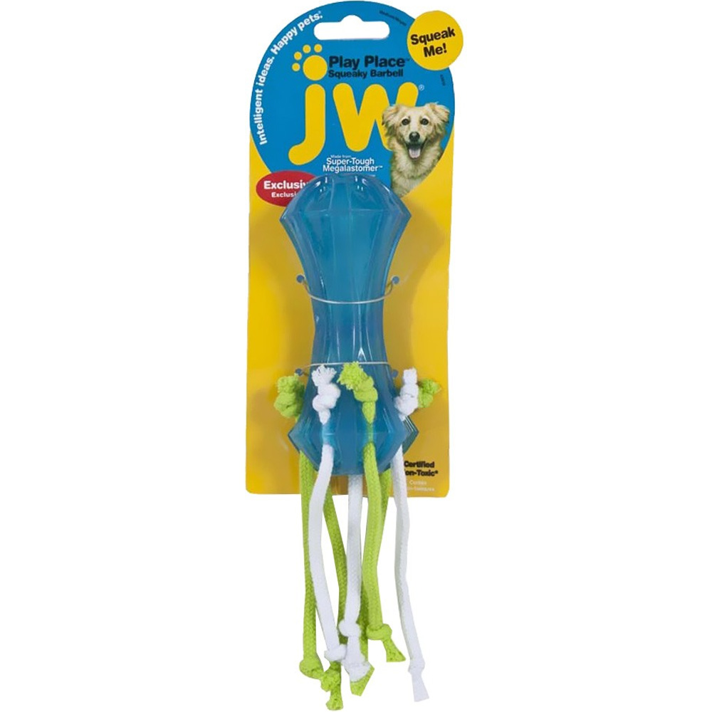 JW-PET-PLAYPLACE-SQUEAKY-DUMBELL-STREAMERS