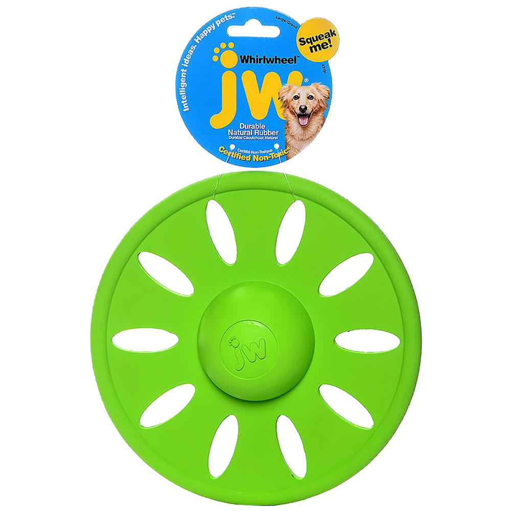 JW Pet Whirl Wheel Flying Disk Dog Toy - Large (Assorted) im test