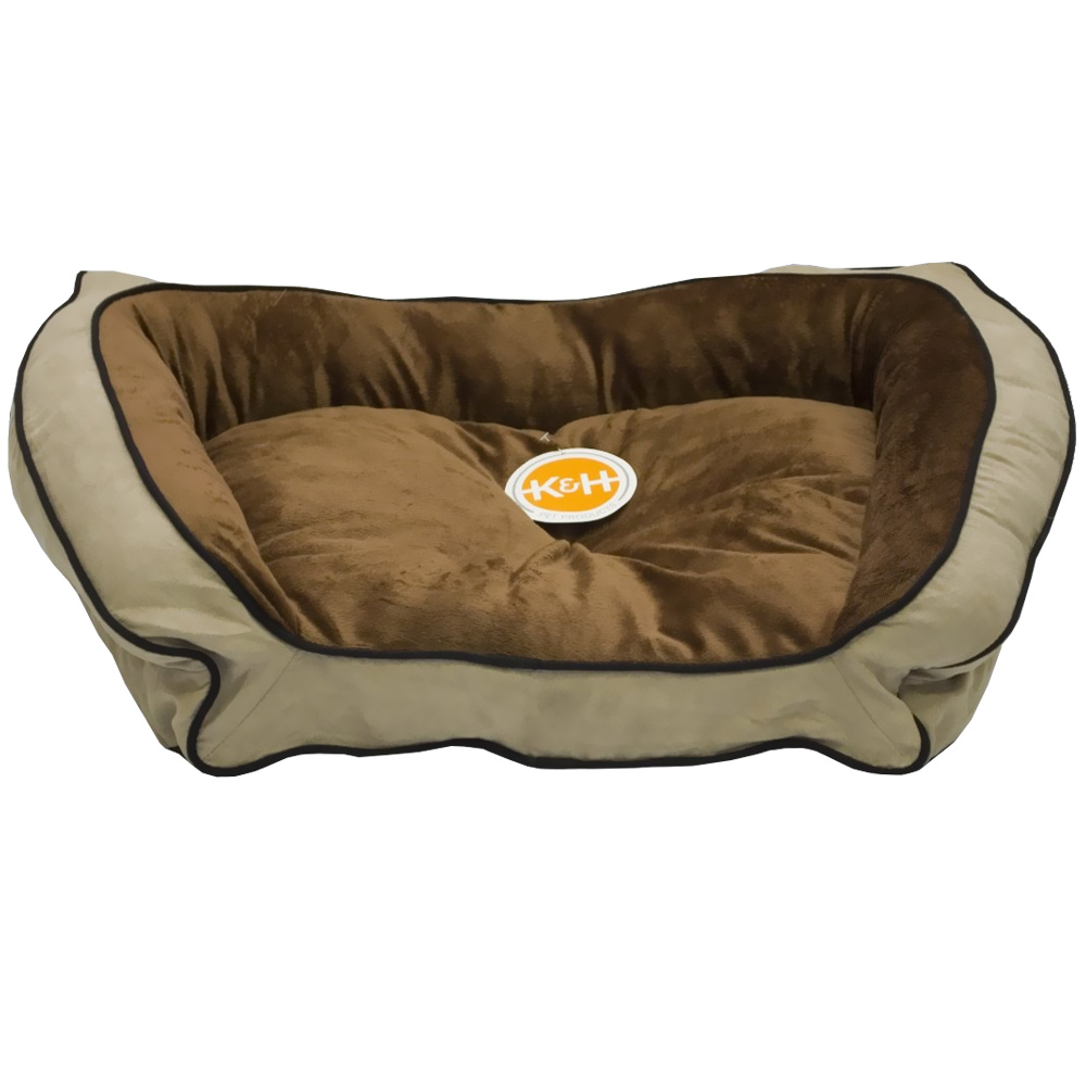 """""""K&H Bolster Couch Pet Bed Mocha/Tan - Large (28""""""""x40"""""""")"""" im test"""