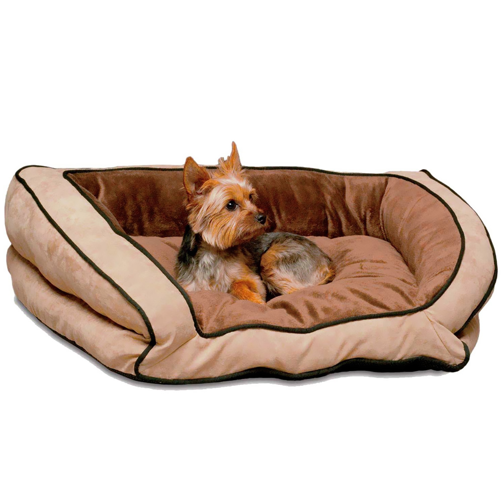 K-AND-H-BOLSTER-COUCH-PET-BED-MOCHA-TAN-LARGE-28X40