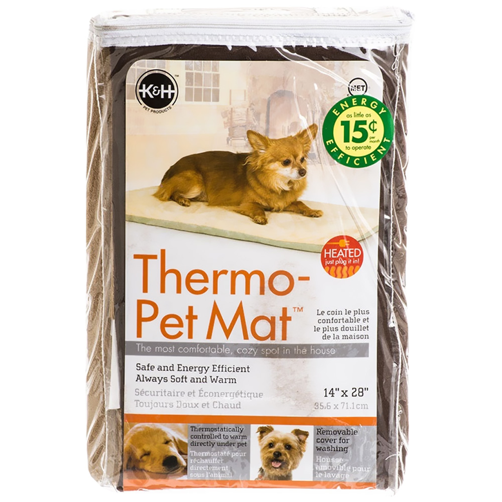 "Image of ""K&H Thermo-Pet Mat 14"""" x 28"""" - Mocha"""
