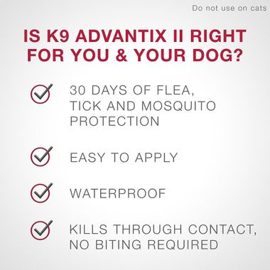 Banner reading is K9 Advantix two right for you and your dog